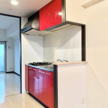 右横に冷蔵庫スペース。