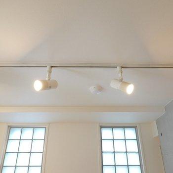 照明はスポットライト。これがあるだけでオシャレ感が一気に増すよね。