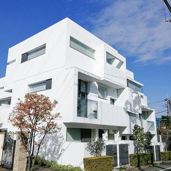 グッドデザイン賞を受賞した純白の外観。