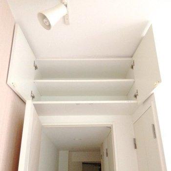 扉の上にも収納が!※写真は4階同間取り・別部屋のものです。