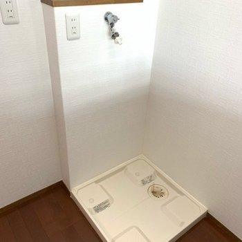 洗濯機置場はキッチンスペースにありました!