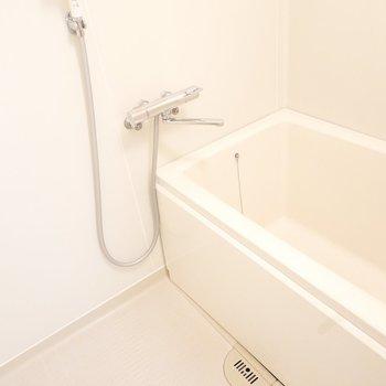 お風呂は綺麗で、清潔感があります。