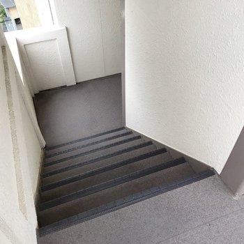 4階までは階段で。忘れ物しない習慣がつきそうです。