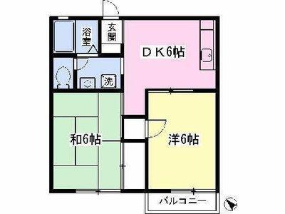 辻堂13分アパート の間取り