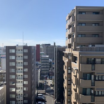 流石の10階。空が広いです。
