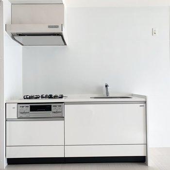 キッチンもお部屋に合わせたカラーです。