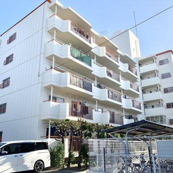 閑静な住宅街の中のホワイトなマンションです。