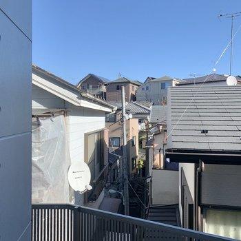 眺望は周辺の住宅街が見渡せます