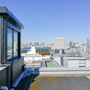 東京タワーも見えるんです。