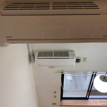 なんとエアコンが2台あります。
