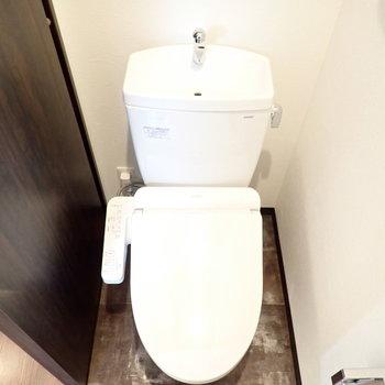 トイレの床がおもしろいです ※写真はモデルルームです