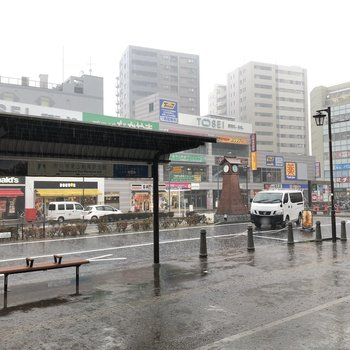 ロータリーのある北口も飲食店を中心にお店が並んでいます。