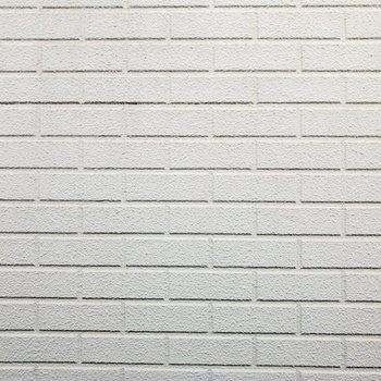バルコニーからの眺めはお隣さんの壁。