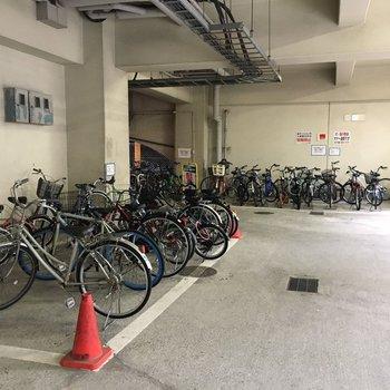 駐輪場もありました。