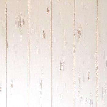 白い木目のクロス!