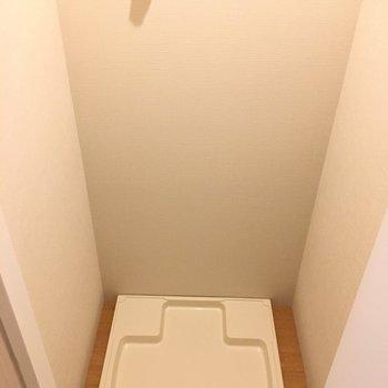 洗濯機置き場が隠れてました。