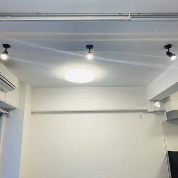 和室を照らすスポットライト