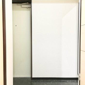 玄関は横長タイプ。(※写真は5階の同間取り別部屋のものです)