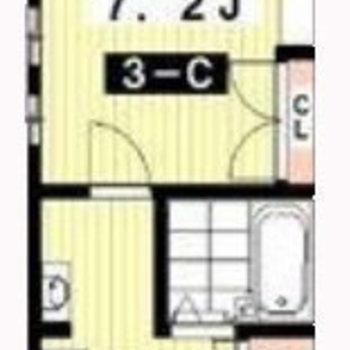 居室までは階段を2周上がります