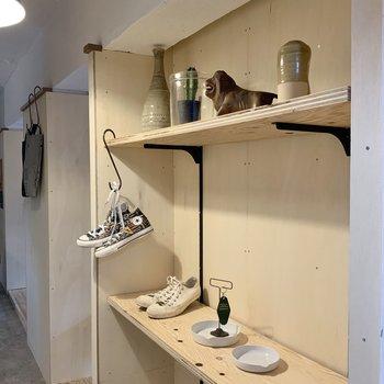 鍵置いたり、写真など飾るのもいいな。※写真は1階モデルルームのものです