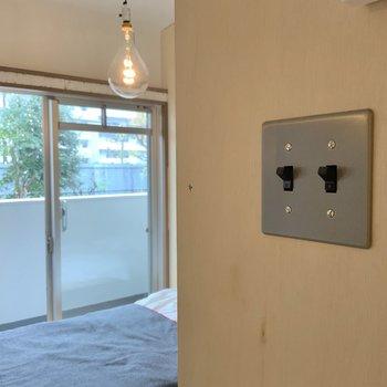 スイッチのデザインにキュン。※写真は1階モデルルームのものです
