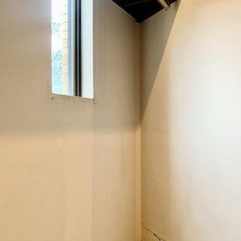 ウォークインでたっぷり掛けられそう。奥には小窓もあります。