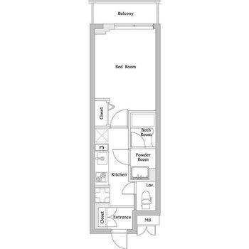 水回りはそれぞれ独立タイプ。1kのお部屋。