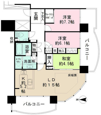 M.M.TOWERS the South の間取り