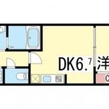 寝る部屋とご飯を食べるスペースを分けれます