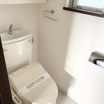 下のフロアのおトイレはコンパクトサイズ。