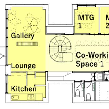 1階のコワーキングスペース