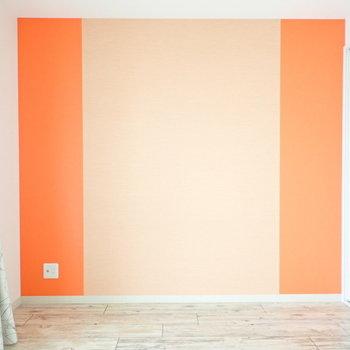 オレンジのサンドイッチ!※壁紙の色は写真より落ち着いています
