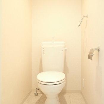 トイレもひろびろ。優しい空間です