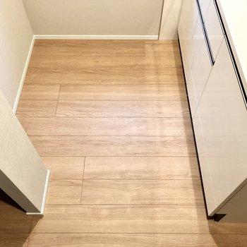 キッチンはスペース広めなのでストレスなく料理できそうですよ。