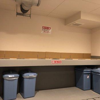 建物内にゴミ置き場もありましたよ。