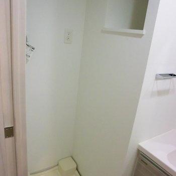 洗濯機置場!※写真は4階の反転間取り別部屋のものです