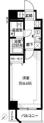プレール・ドゥーク東京EASTⅡ の間取り