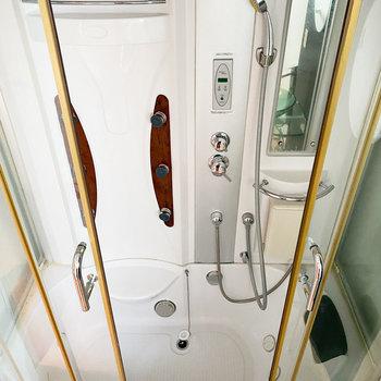 天井や背面マッサージシャワーもついて、お部屋でスパ気分が味わえます。