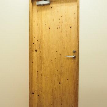 扉までナチュラルに