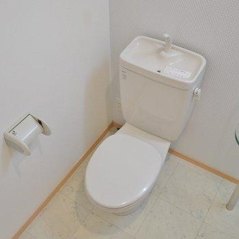 横におトイレのあるアメセパタイプ。※写真同タイプの2階のお部屋