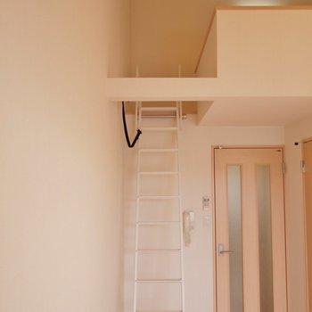 それでは、ロフトに上がってみましょう♪。※写真同タイプの2階のお部屋