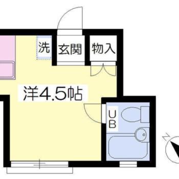 コンパクトな1Rのお部屋です