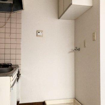 洗濯機の上には収納がありますよ※写真は前回募集時のものです