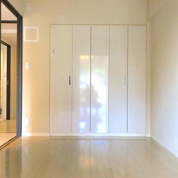 【洋室5帖】逆側には大きめの収納。