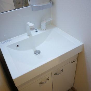 独立洗面台は大きくて使いやすそう!