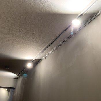 この照明とコンクリの壁がかっこよすぎます…!