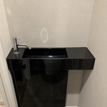 トイレには手洗い場もありますよ