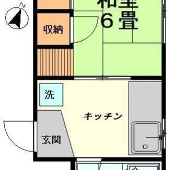 和室の1Kです。