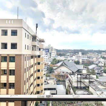 さすが9階。清々しい眺め、、!
