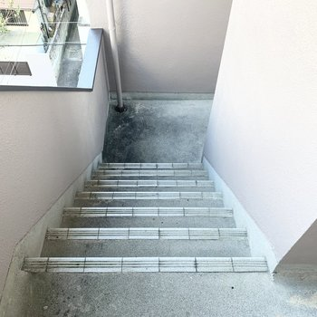 アクセスは階段のみです。